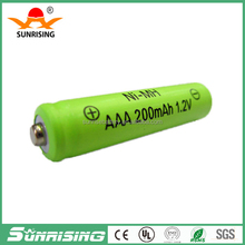 Factory direct sale 200mah 1.2v ni-mh aaa battery battery 1.2V aaa rechargeable batteries