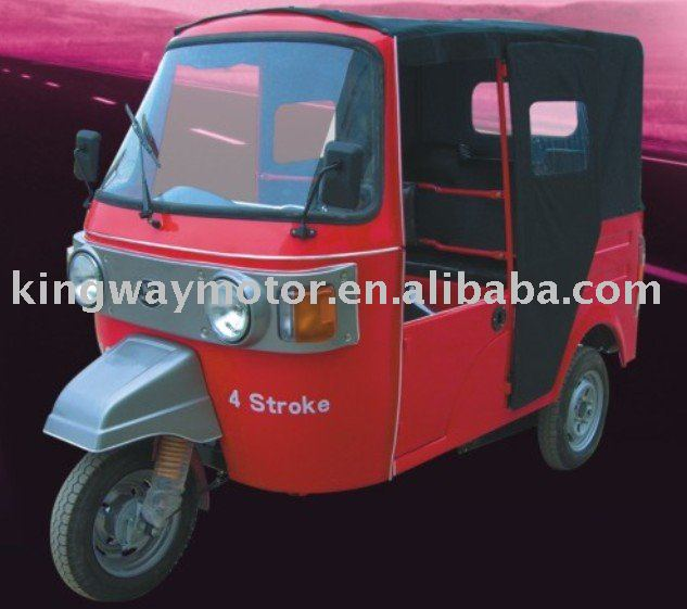 Bangladesh 150cc CNG India Tuk Tuk Bajaj Rain Cover Adult Tricycle for sale