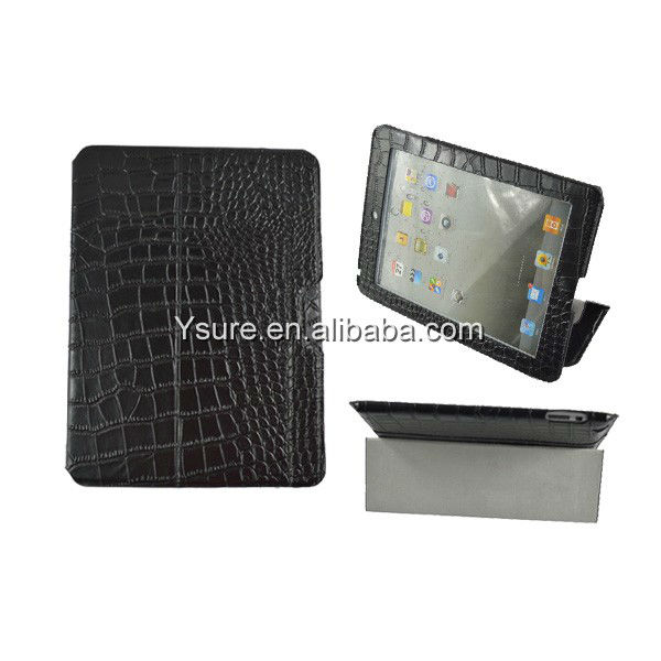 Genuine leather travel case for Apple ipad ipad2 ipad3 ipad4 Crocodile Accessories