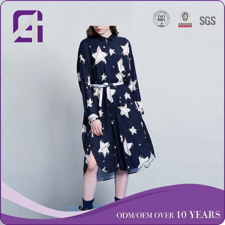 China Supplier Factory long sleeve daster dress for wholesale