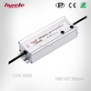 60W Constant Voltage LED Dimmable Waterproof power supply IP65 230V AC Input 36V/42V/48V/54V DC Output