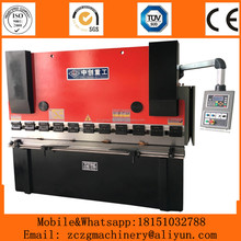 WC67K hydraulic stainless steel sheet bender machine for 6mm thickness metal plate folding