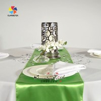 Wholesale Fancy Wedding Satin Table Runner, Popular Satin Table Cloth.