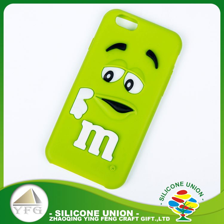 Superior 3D cute logo mobile phone silicone case