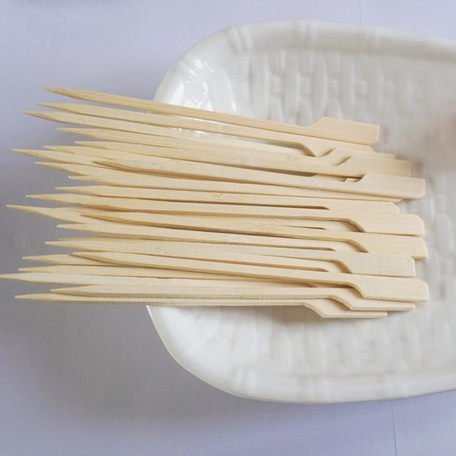 Cheap Wholesale custom bamboo fruit food picks , teppo skewers ,bbq sticks