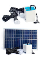 12Ah 12v battery with solar panel with bulbs