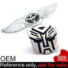 funny 3d foreign custom badge metal emblem car logo
