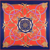 fashion square raw silk scarf