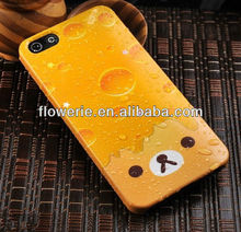 FL2248 2013 Guangzhou hot selling melting ice cream hard back cover case with lovely aninmal for iphone 5 5G