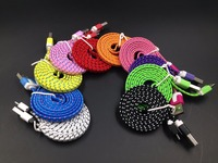 Braided Nylon Micro USB Data Charging Cable for Samsung iPhones (1m 2m 3m 300cm)