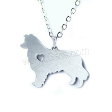 Stainless Steel jewelry jewel dog shape animal pendant stainless steel necklace