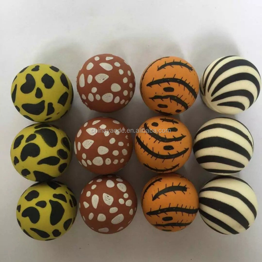 Animal Printed Bouncing Ball Toy/ Rubber bouncy Ball