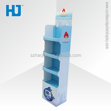 4 Floors paper display shelf,Pop up cardboard display,console display rack
