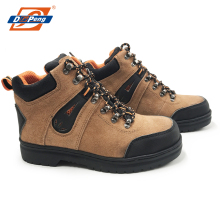 high cut camel suede leather security sports safety shoes sneaker for workers