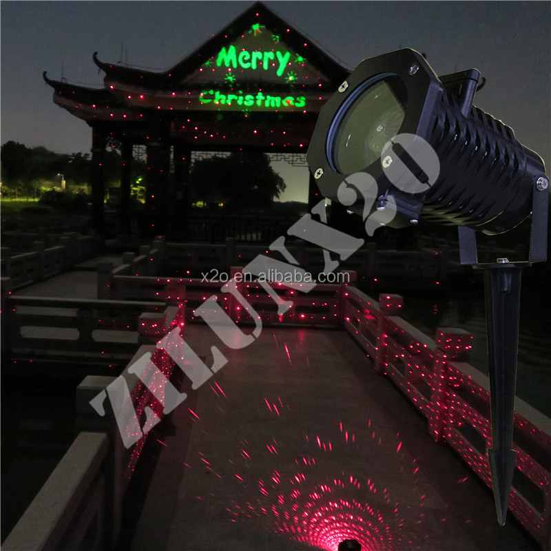 2017 new coming holographic projector laser christmas outdoor