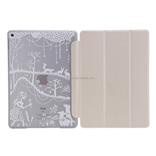Best Selling OEM Custom Cartoon Image PU Cover Smart Case for iPad cover