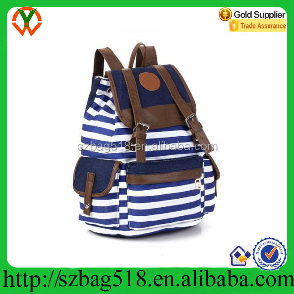 Unisex Canvas Backpack School Bag Laptop Bag for Teens Girl Boy Student