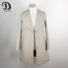 Modern design clothes women winter coat model with snap-fastener