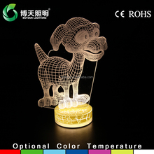 3D dog shape night light for home decoration