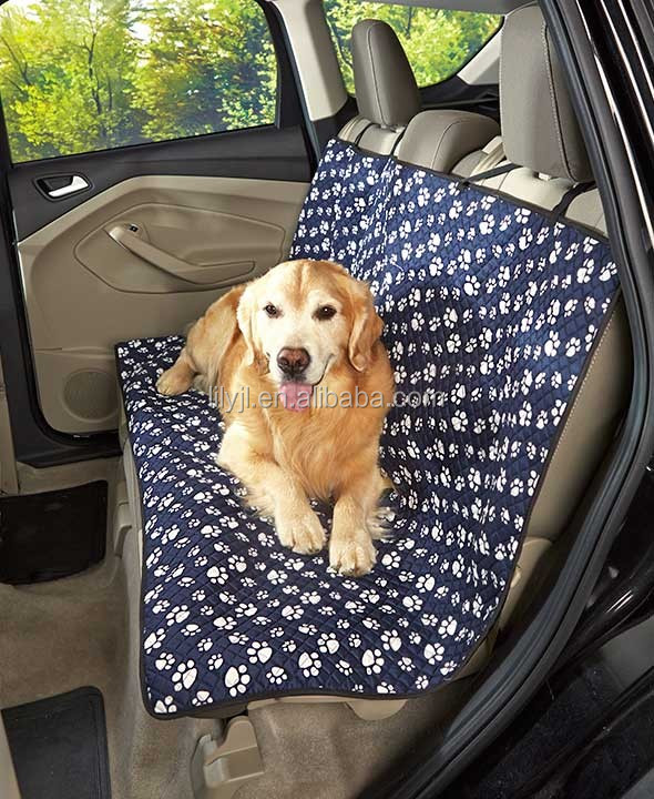 Luxury Dog Cat Pet Car Back Seat Back Bench Cover Quilted Padded Washable