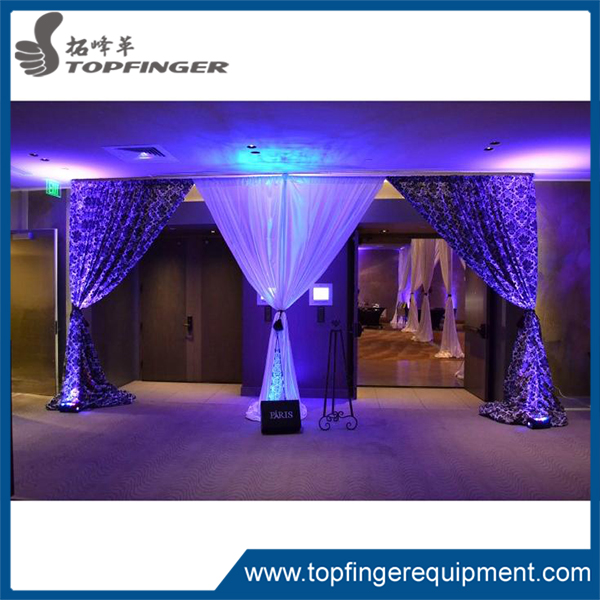 Australia 20 ft telescopic black color theatre stands photo booth velvet rental pipe and drape for wedding backdrop