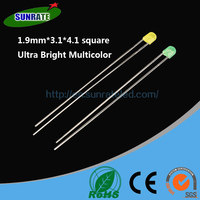 7 Years Verified Supplier Emitting Diode High Quality 1.9mm*3.1*4.1 Square Lamp Led Diode Light