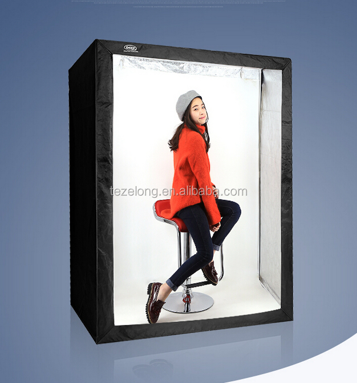 high quality 160cm deep photo studio light box photography kits with 6 light CRI>95 portable lightbox