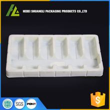 pvc clamshell blister packaging flocking thermoformed plastic tray processing