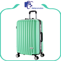 decent abs hard plastic green travel cases luggage