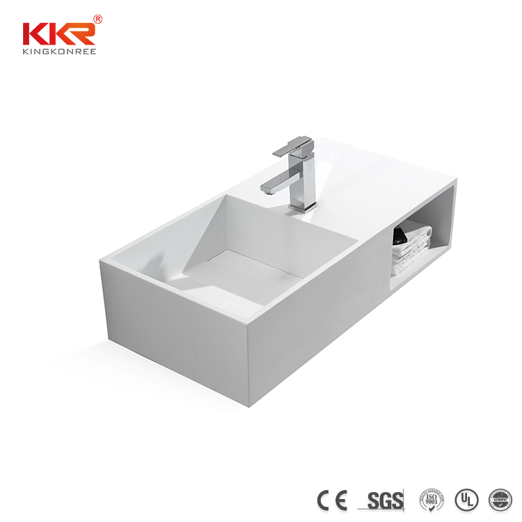 40'' Wall Mounted Stone Resin solid surface wash basin
