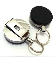 retractable Security key chain high resilience rope key ring antitheft key chain