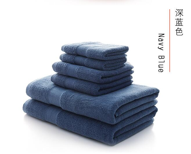 Luxury 100% cotton thick bath towel set 3pcs bath towel face towel