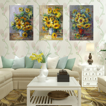 Handmade home goods wall art sun flower canvas painting designs for suits