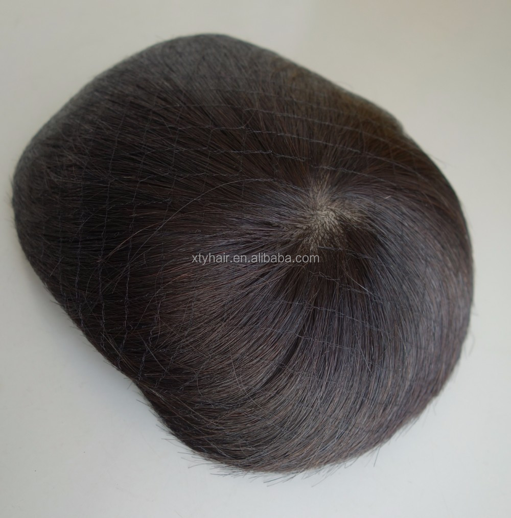 Alibaba Express Hot Sale for high quality 100% Chinese human hair toupee for men