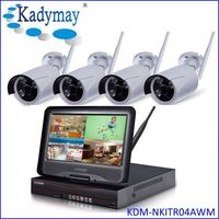 "Gold Supplier 4chs WIFI 1.0/1.3Megapixels security camera system oem with 10.1"" Monitor"