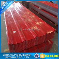 China Construction material Red Color Zinc Metal Roof Tile , Roofing Tile