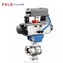 DN200 pneumatic WAFER ball valve actuator