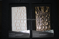 NIZWELL Alli Flip Phone Case for Galaxy Note 2 E250 Genuine Leather Embossing Alligator Skin Handmade