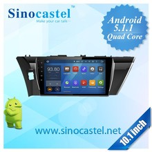 Android 5.1.1 navigation system for toyota corolla 2014 dvd gps multimedia player car radio