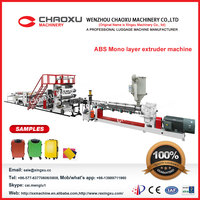 abs mono layer plastic extruder plastic carry bag making machine