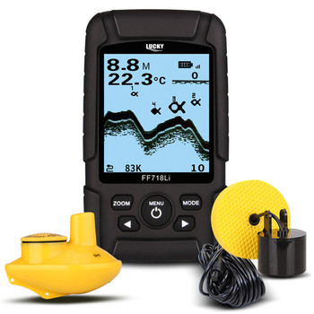 Portable Lucky 2-in-1 Fishing Tackle Fish Finder with Floating-waterproof Design