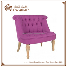 European Style Living Room Buttoned Pink Upholstered Tub Chair