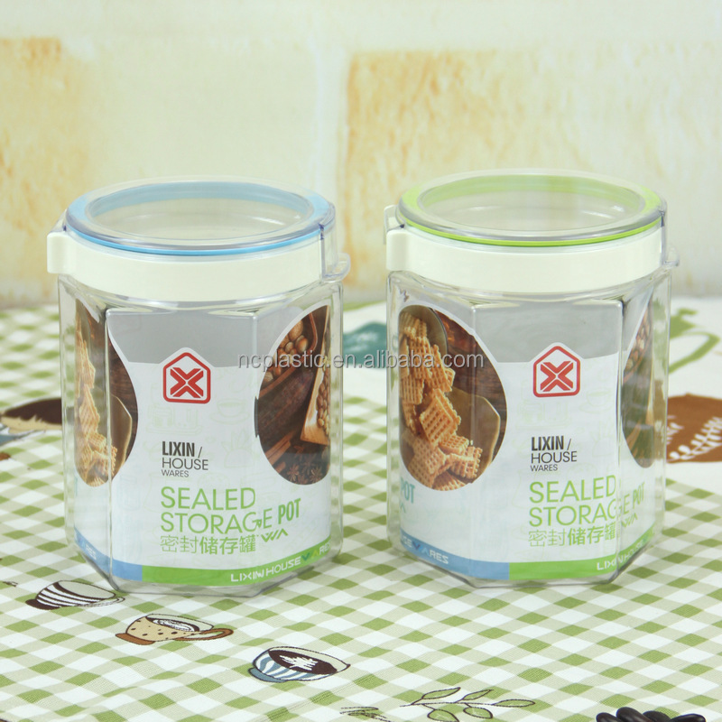 china wholesale PET Crystal Clear hermetic jam Plastic Jars