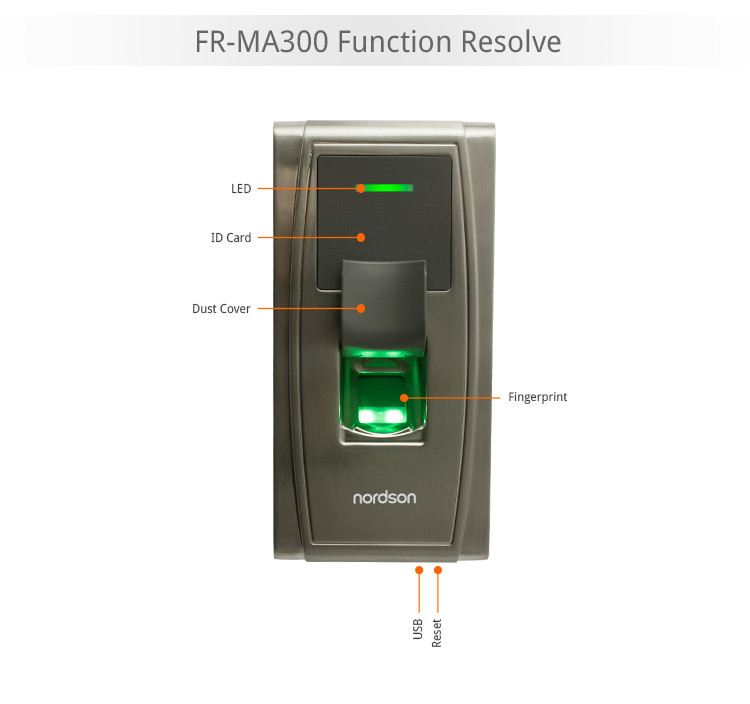Waterproof Outdoor IP54 Metal Bluetooth Security Biometric Fingerprint Door Lock keyless lock time attendance FR-MA300