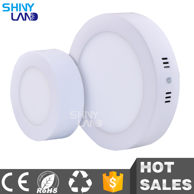 Round / Square Shape 3W 6W 12W 18W 24W LED Panel light Surface Mounted Lamp Ceiling Downlight