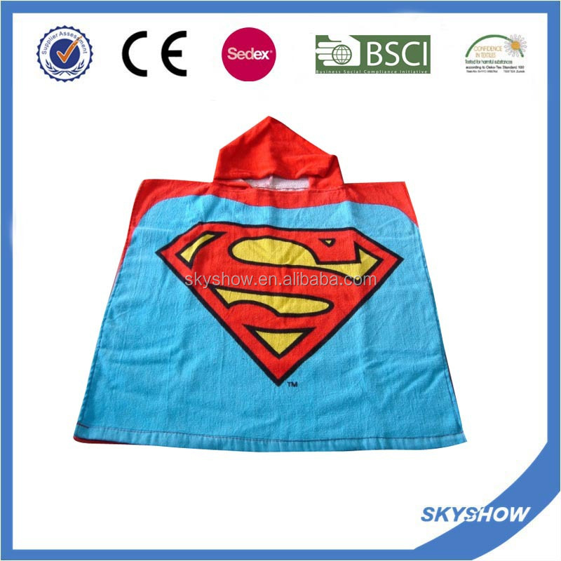 Microfiber Hooded Poncho Towel For Kids Or Adults
