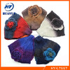 New arrival flower pattern wool knitted headbands for girls and adult