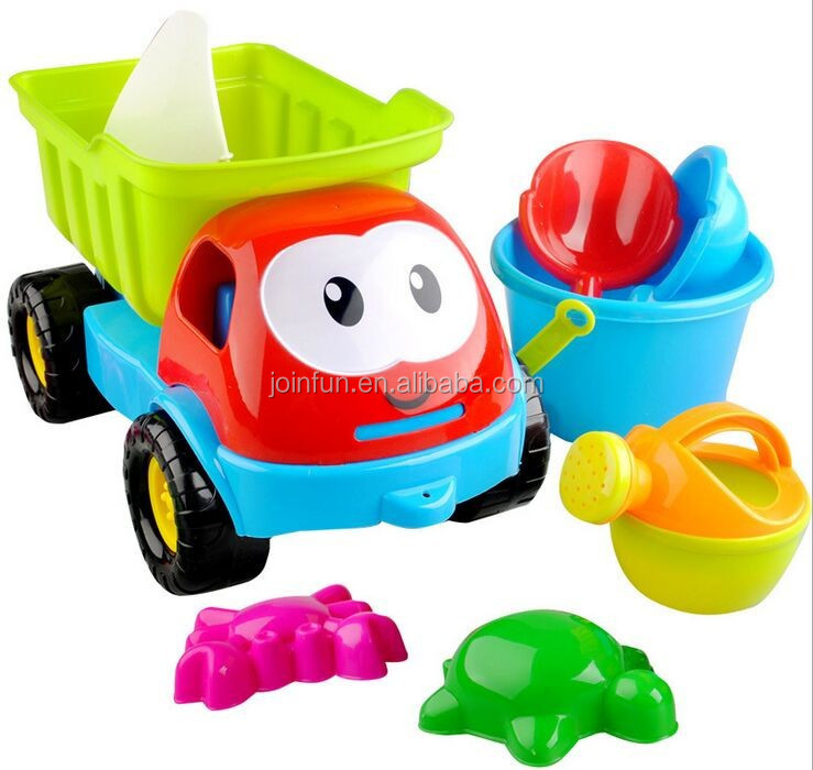 Outdoor best beach truck toys, summer outdoor toy kids plastic beach toys, cute funny sand beach outdoor toys for kids