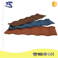 15 years guarantee 0.40mm stone-chip coated metal roof tile