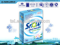 Wholesale cold water powdered detergent retail box design OEM/ODM offer